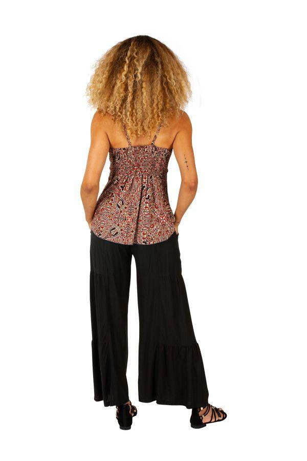 Tee-shirt femme imprimé ethnique avec effet superposé Jill 309019