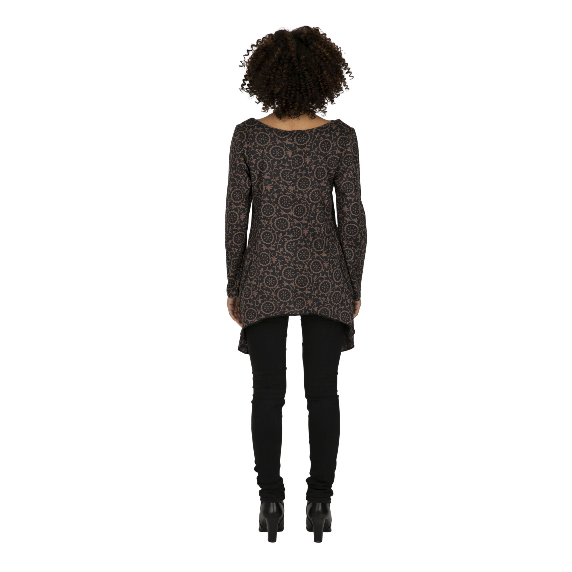 Tee-shirt femme long et ample très mode Riobamby