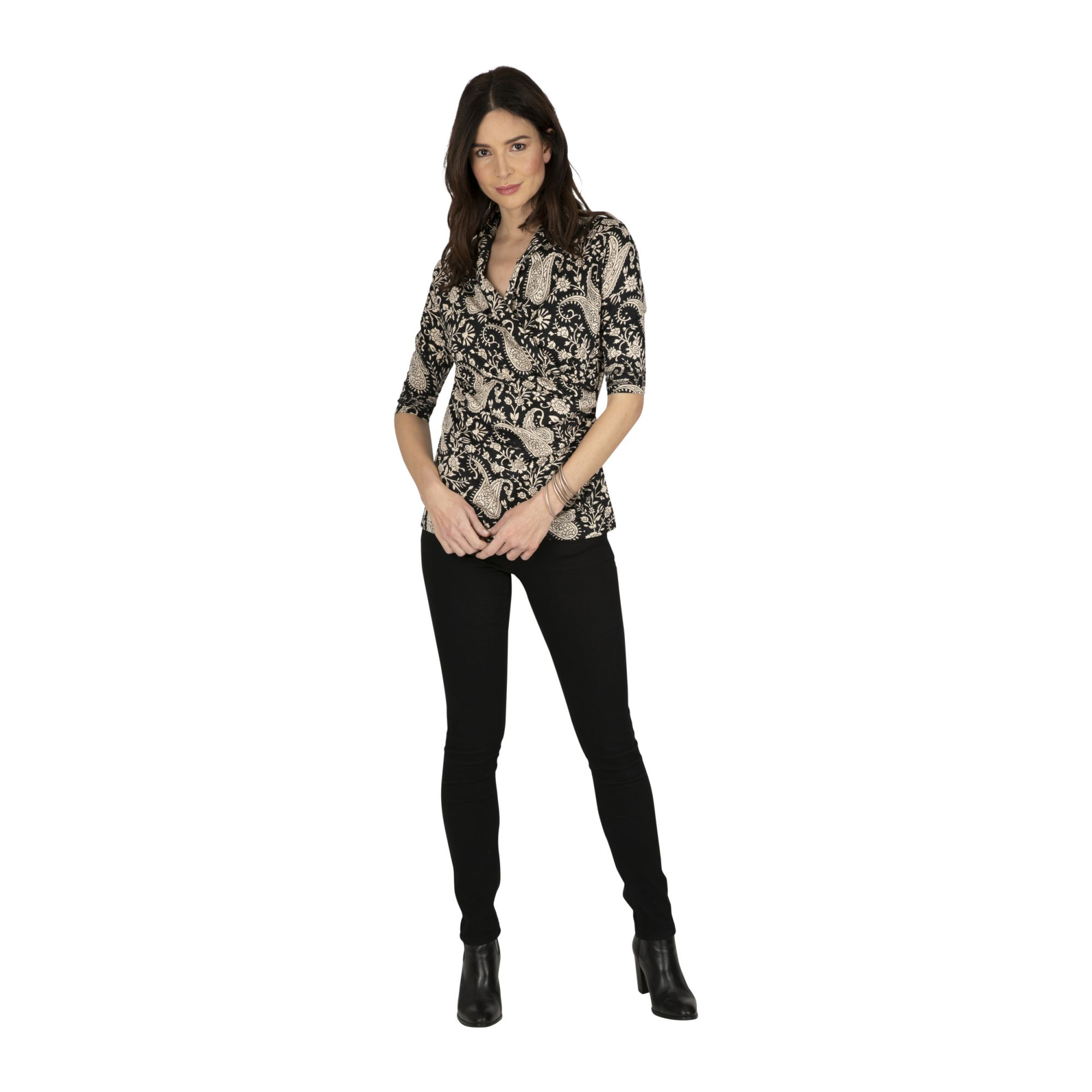 Tee-shirt femme pas cher chic manches 3/4 Wakiso