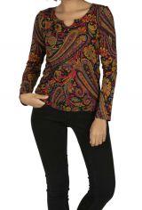Tee-shirt femme pas cher coloré pour hiver Gaya