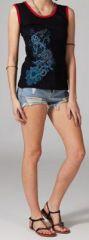 Tee-shirt femme sans manches col rond ethnique Marko 5 270651