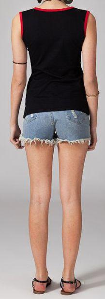 Tee-shirt femme sans manches col rond ethnique Marko 6 270658