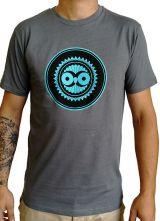 Tee-Shirt Gris à connotation Maya imprimé et Original Braddy 297498
