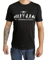 Tee-shirt Homme à col rond Imprimé et Original Involution Noir 297261