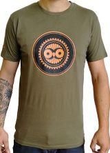 Tee-Shirt Kaki à connotation Maya imprimé et Original Braddy 297482