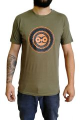 Tee-Shirt Kaki à connotation Maya imprimé et Original Braddy 297483