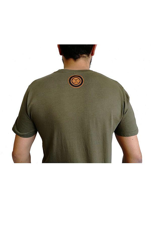 Tee-Shirt Kaki à connotation Maya imprimé et Original Braddy 297485