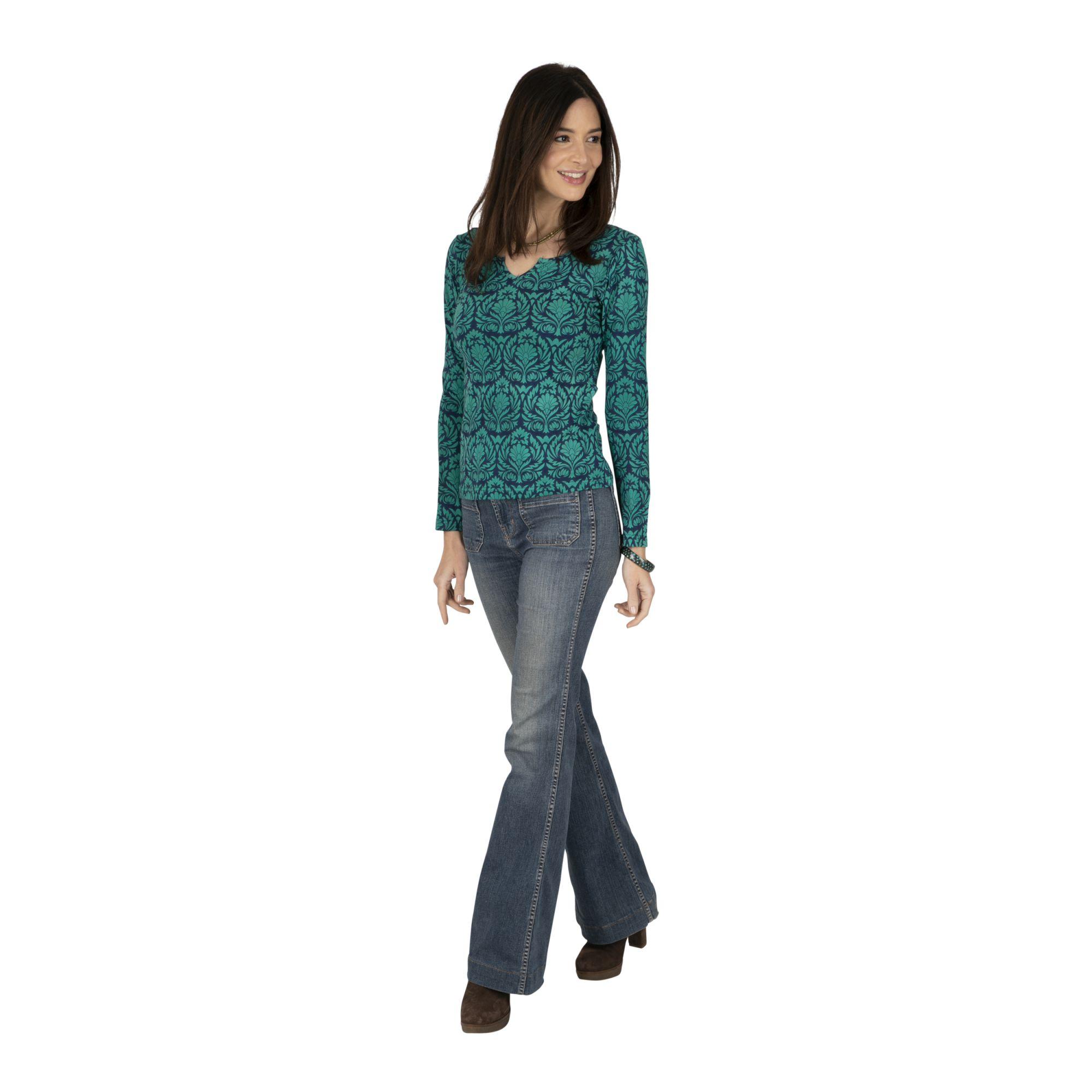 Tee-shirt manches longues bohème coloré pour femme Zinder