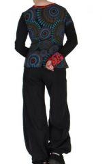 Tee-shirt noir femme imprimé Loula 266661