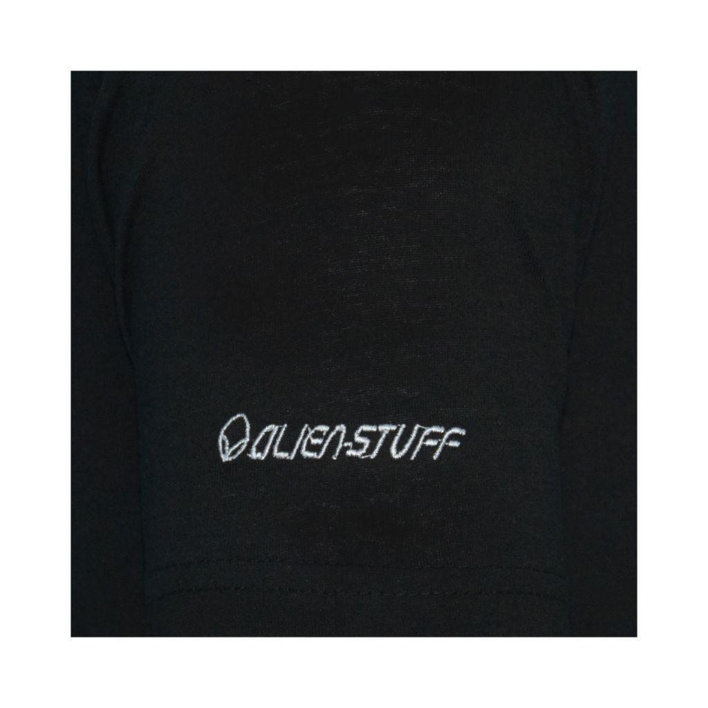 Tee-shirt noir pour homme à tendance Zen Lotus et au col rond 297258