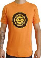 Tee-Shirt Orange à connotation Maya imprimé et Original Braddy 297490