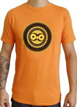 Tee-Shirt Orange à connotation Maya imprimé et Original Braddy 297490