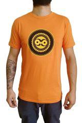 Tee-Shirt Orange à connotation Maya imprimé et Original Braddy 297491