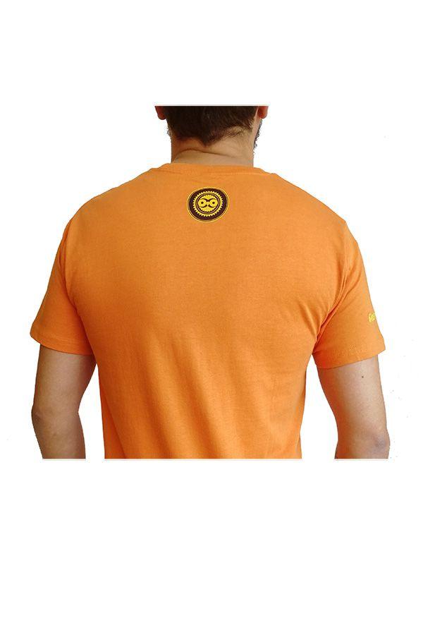Tee-Shirt Orange à connotation Maya imprimé et Original Braddy 297493
