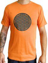 Tee-shirt Orange pour homme Imprimé géométrique et Original Altéa 297301