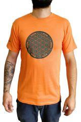 Tee-shirt Orange pour homme Imprimé géométrique et Original Altéa 297302