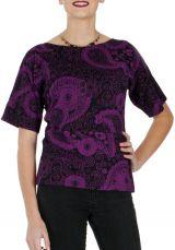 Tee shirt original pour femme imprimé à manches courtes Eglantine 286805