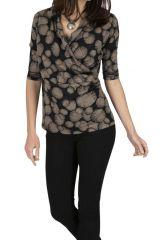 Tee-shirt pas cher fashion noir pour femme Koboko