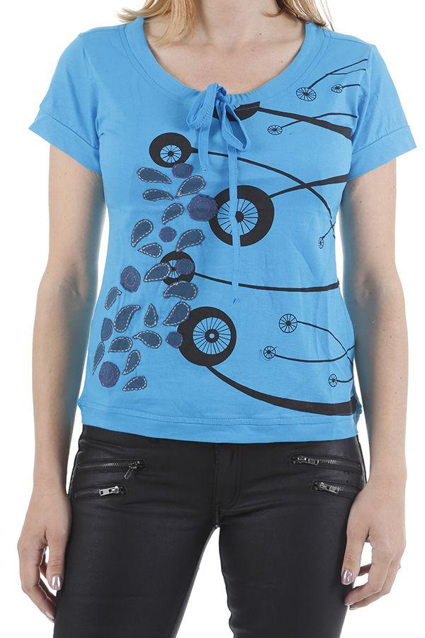 Tee-shirt pour femme original et très coloré Pascal 310975