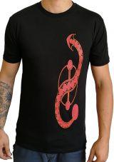 Tee-shirt pour homme en coton Ethnique et Original Joey Noir 297232