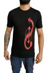 Tee-shirt pour homme en coton Ethnique et Original Joey Noir 297233