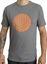 Tee-shirt pour homme Imprimé géométrique et Original Altéa Gris/Orange 297290