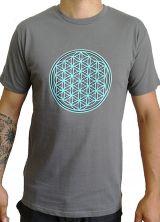 Tee-shirt pour homme Imprimé géométrique et Original Altéa Gris 297285
