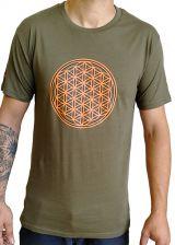 Tee-shirt pour homme Imprimé géométrique et Original Altéa Kaki 297297