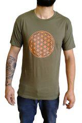 Tee-shirt pour homme Imprimé géométrique et Original Altéa Kaki 297298