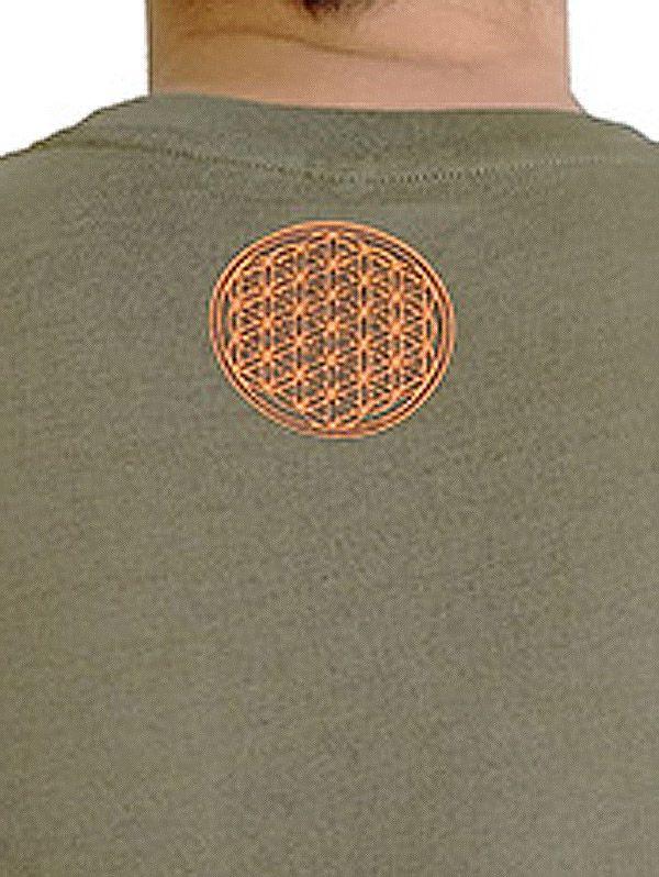 Tee-shirt pour homme Imprimé géométrique et Original Altéa Kaki 297299