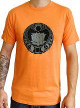 Tee-shirt pour homme Orange à tendance Zen Lotus et au col rond 297451