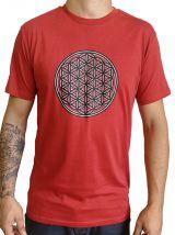 Tee-shirt pour homme Rouge Imprimé géométrique et Original Altéa 297304