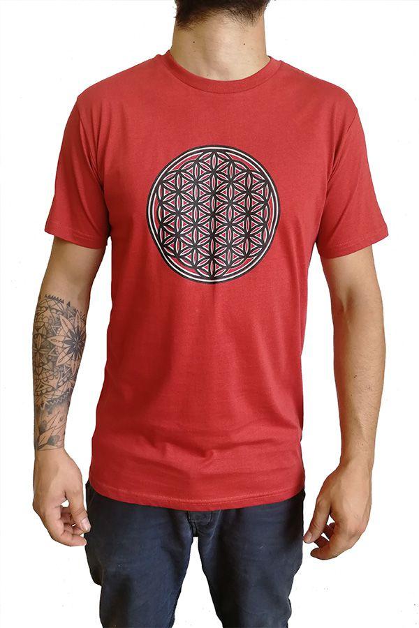 Tee-shirt pour homme Rouge Imprimé géométrique et Original Altéa 297305