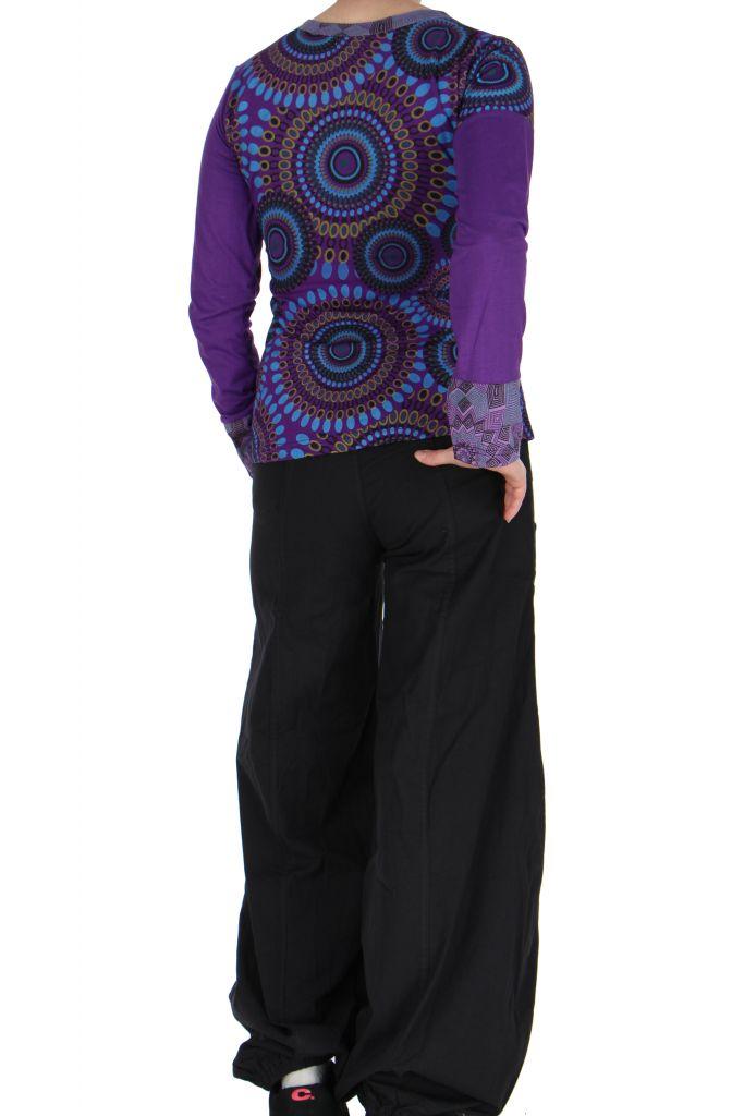 Tee-shirt violet femme imprimé Loula 266659