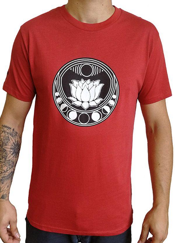 38e99371ecd Tee-shirt Zen et Tendance pour homme motif Lotus Rouge 297454
