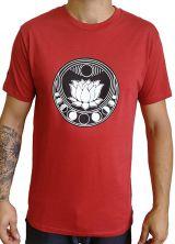 Tee-shirt Zen et Tendance pour homme motif Lotus Rouge 297454
