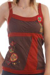 Top à bretelles avec imprimé floral original bicolore Patricia 299667