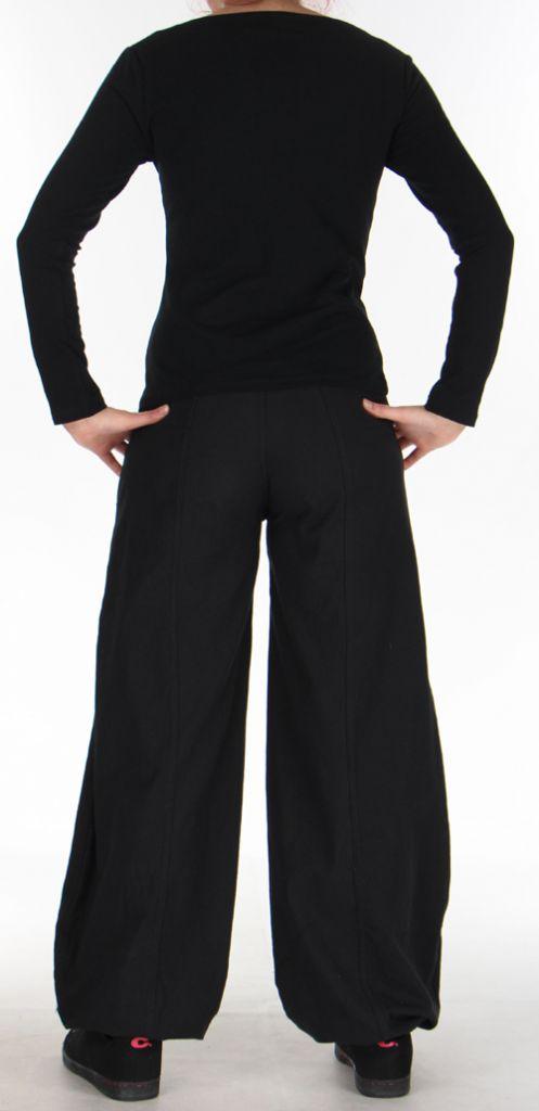 Top à manches longues Original et Coloré pour femme Spencer Noir 276309