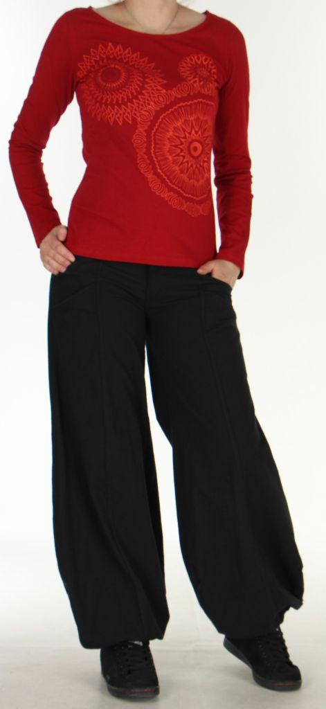 Top à manches longues pour femme Ethnique et Coloré Raphael Rouge 276293