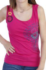 Top agréable à porter à larges bretelles rose Shirley 293975