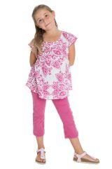 Top d'été enfant à manches courtes Imprimé et Original Rose Ramba 291654