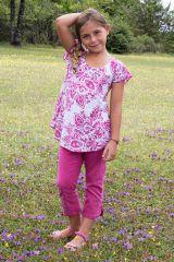 Top d'été enfant à manches courtes Imprimé et Original Rose Ramba 291656