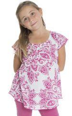 Top d'été enfant à manches courtes Imprimé et Original Rose Ramba 294054