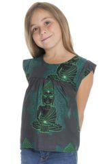Top d'été pour enfant original et imprimé couleur Verte Balia 294025