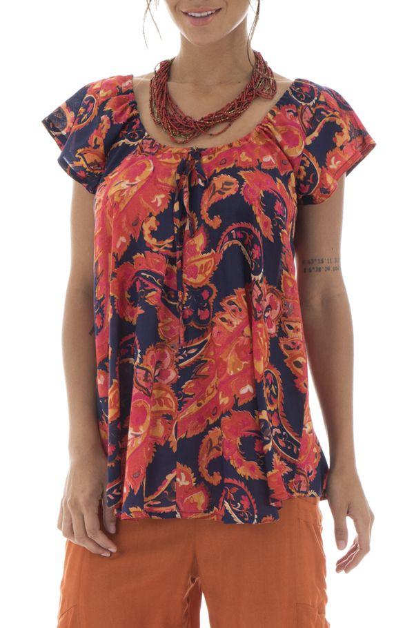 Top en voile de coton pour femme Ethnique et Flamboyant Brandon 292831