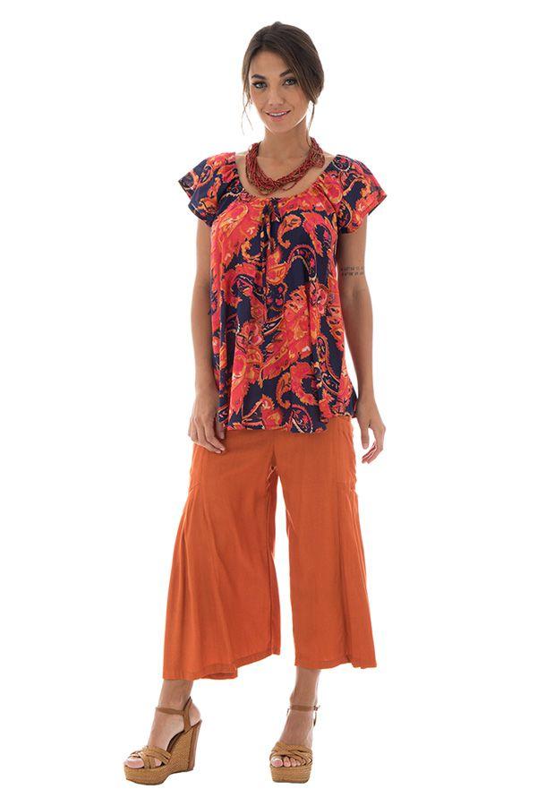 Top en voile de coton pour femme Ethnique et Flamboyant Brandon 292832