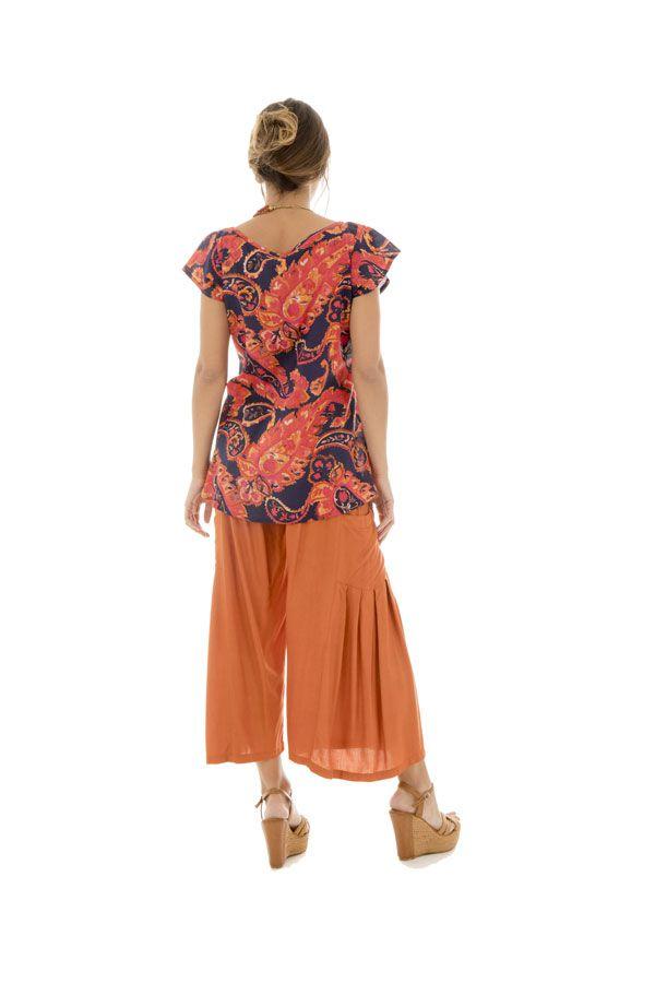 Top en voile de coton pour femme Ethnique et Flamboyant Brandon 292833