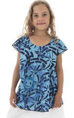 Top été enfant manches courtes Imprimé et Original Bleu Sampada 294055
