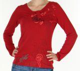 Top Femme à manches longues Fashion et Original Pachka Rouge 277546
