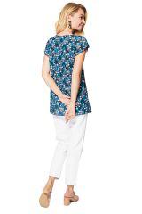 Top femme en coton mode florale esprit bohème chic Kira